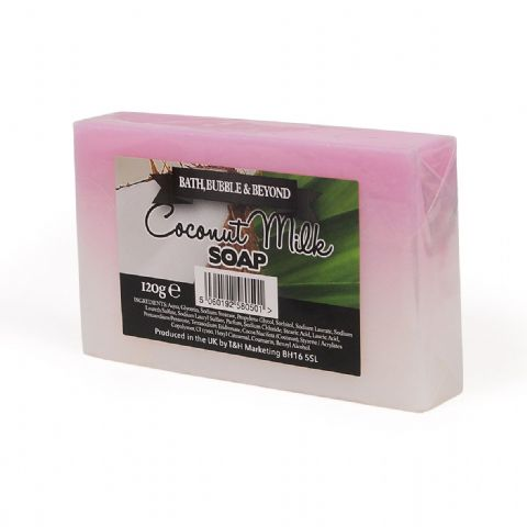 Coconut Ice Milk Glycerin Soap Slice - Bath Bubble & Beyond 120g